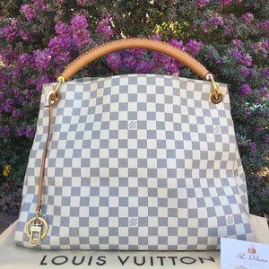 Louis Vuitton Artsy MM Damier Azur Hobo + Dust Bag